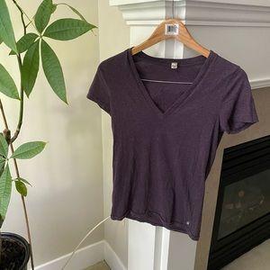 TNA Purple Basic Vneck T-shirt Top